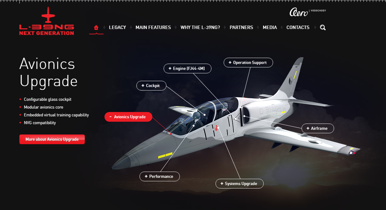 L 39ng program aero vodochody aerospace as which combines the proven aerodynamic concept with the most advanced manufacturing technologies and systems which guarantee a long service life fandeluxe Image collections